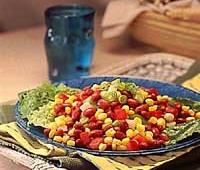 Raudonųjų pupelių salotos